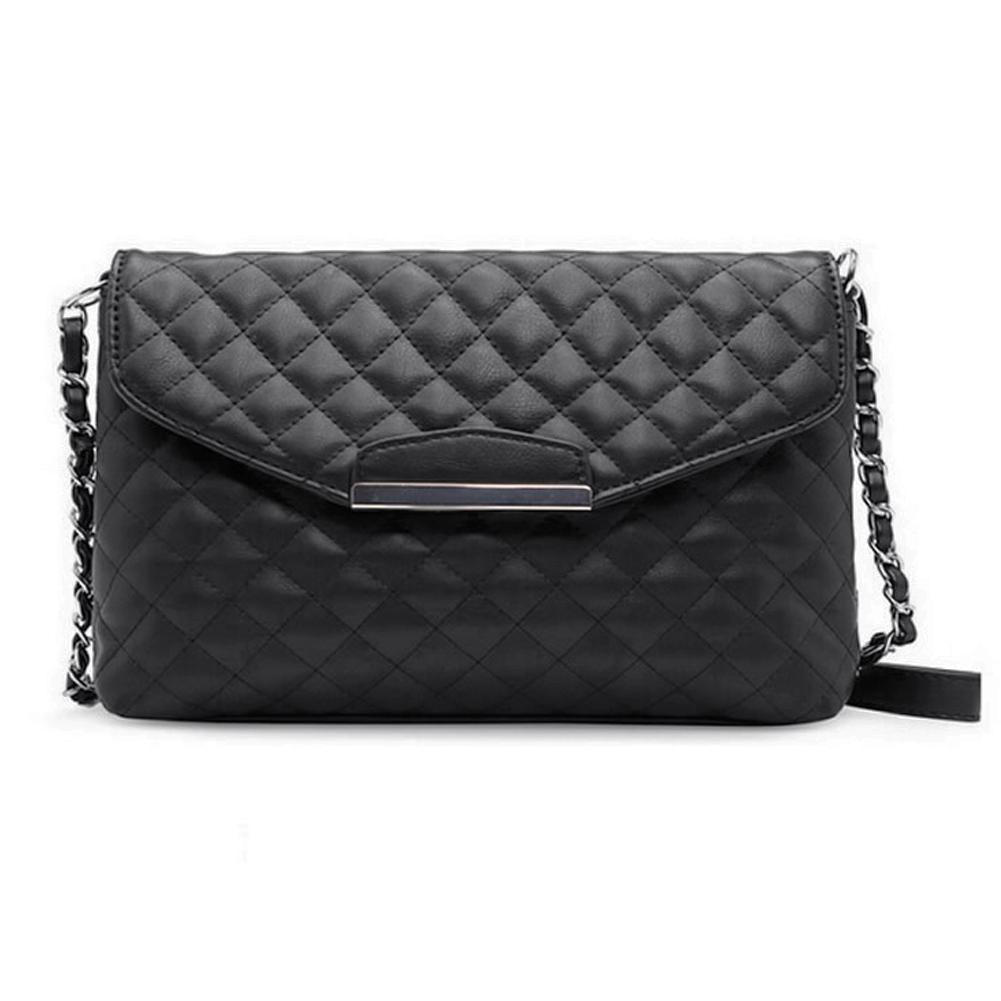 Vintage Women Shoulder Bag PU Leather Flap Front Crossbody Envelope Bag  Women Clutch Handbags High Quality Chain Balsa Feminina Leather Bags  Shoulder Bags ... d06fcb3672a91
