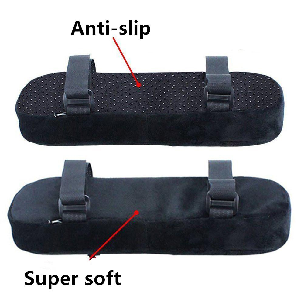Furniture 2pcs Chair Armrest Pads Ultra-soft Memory Foam Elbow Pillow Support Universal Fit For Home Or Office Chair For Elbow Relief