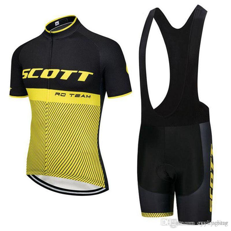 2018 Summer Team SCOTT Men Cycling Jersey Set MTB Bike Clothing ... 124396a50