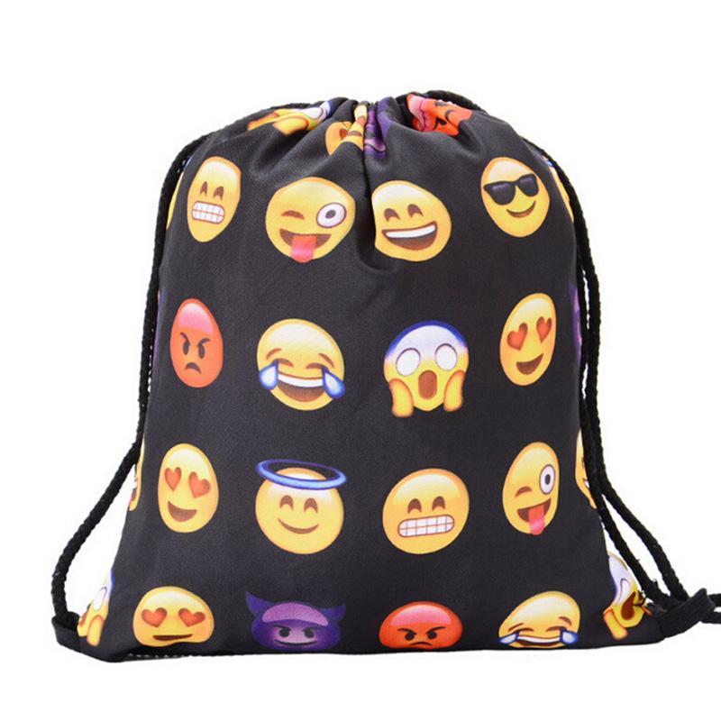 467bd179e2 2019 Women Emoji Backpack 3D Printing Travel Bag Softback Women Mochila  Drawstring Bag Mens Sports Swimming From Cloudyday