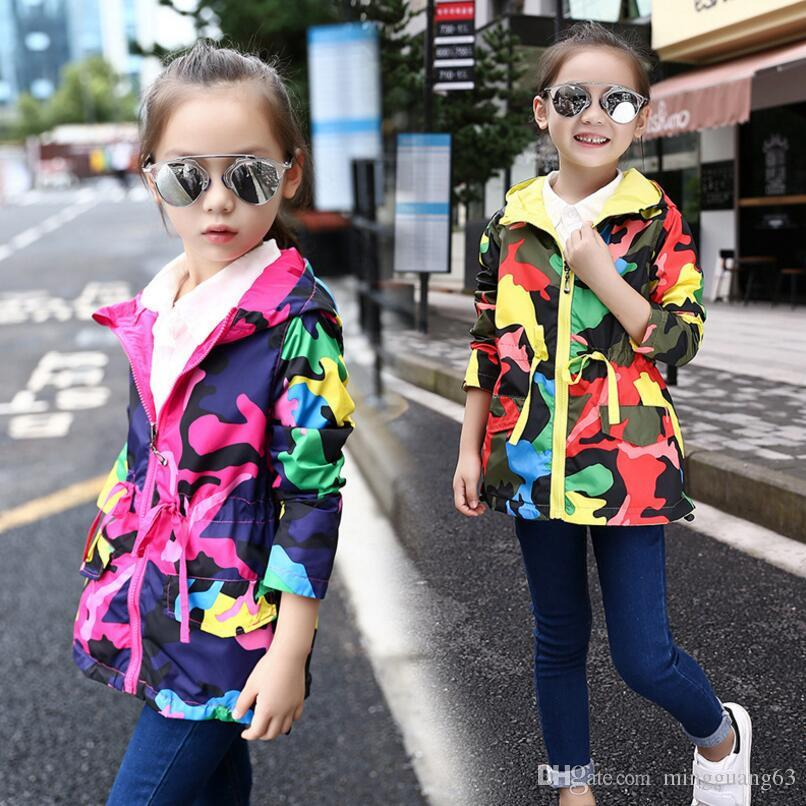 4052992384a2 Casual Baby Girl Trench Coat European Cotton Trench Jacket for 4-9 ...