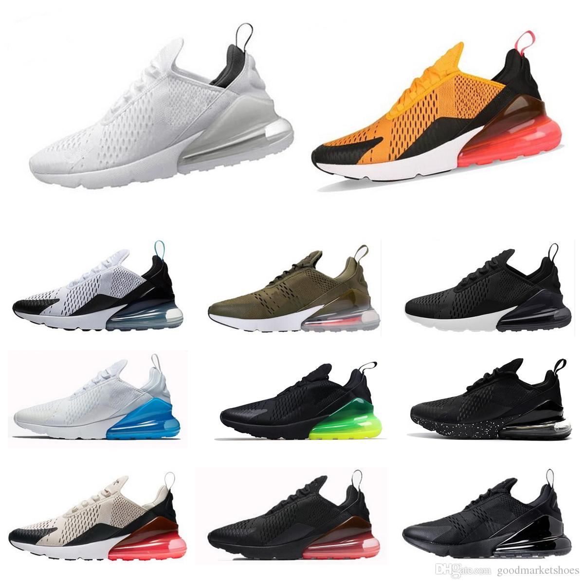 pretty nice 932a4 70157 Acheter Nike W Air Max 270 Airmax 270 Air 270 AH8050 Hommes Occasionnels  Chaussures 27C Triple Blanc Noir Sarcelle Bruce Lee Marron Olive Marine  Photo Bleu ...