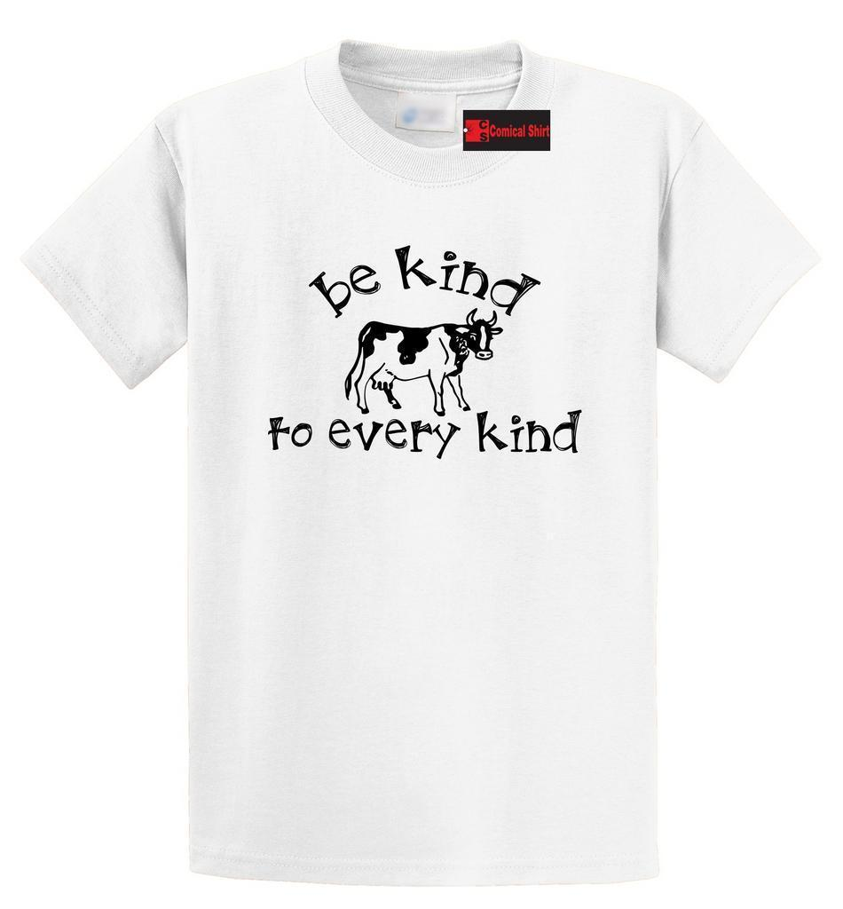 3cc7945a3 Be Kind To Every Kind T Shirt Vegan Vegetarian Animal Lover Cow Graphic Tee  Funny Unisex Casual Tee Gift T Shirt With Online Shop T Shirt From  Elite_direct, ...