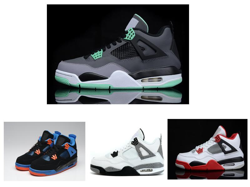 hot sale online 539ed 6abb7 Stockx with Box Wholesale 4 White Cement Bred Fire Red IV 4s Men Women  Basketball Shoes Sneakers Sports Trainers SIZE 36-47