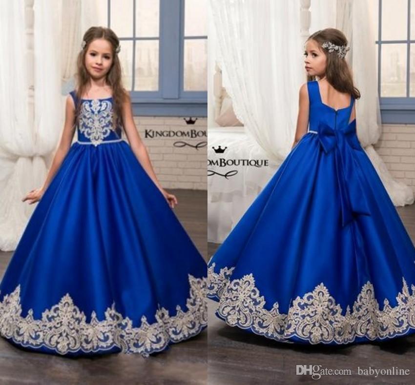 Royal Blue Flower Girl Dresses