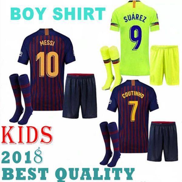 ef18f89d62e ... aliexpress barcelona 2018 2019 messi suarez kids jersey soccer 18 19  camisas blue dembele messi iniesta