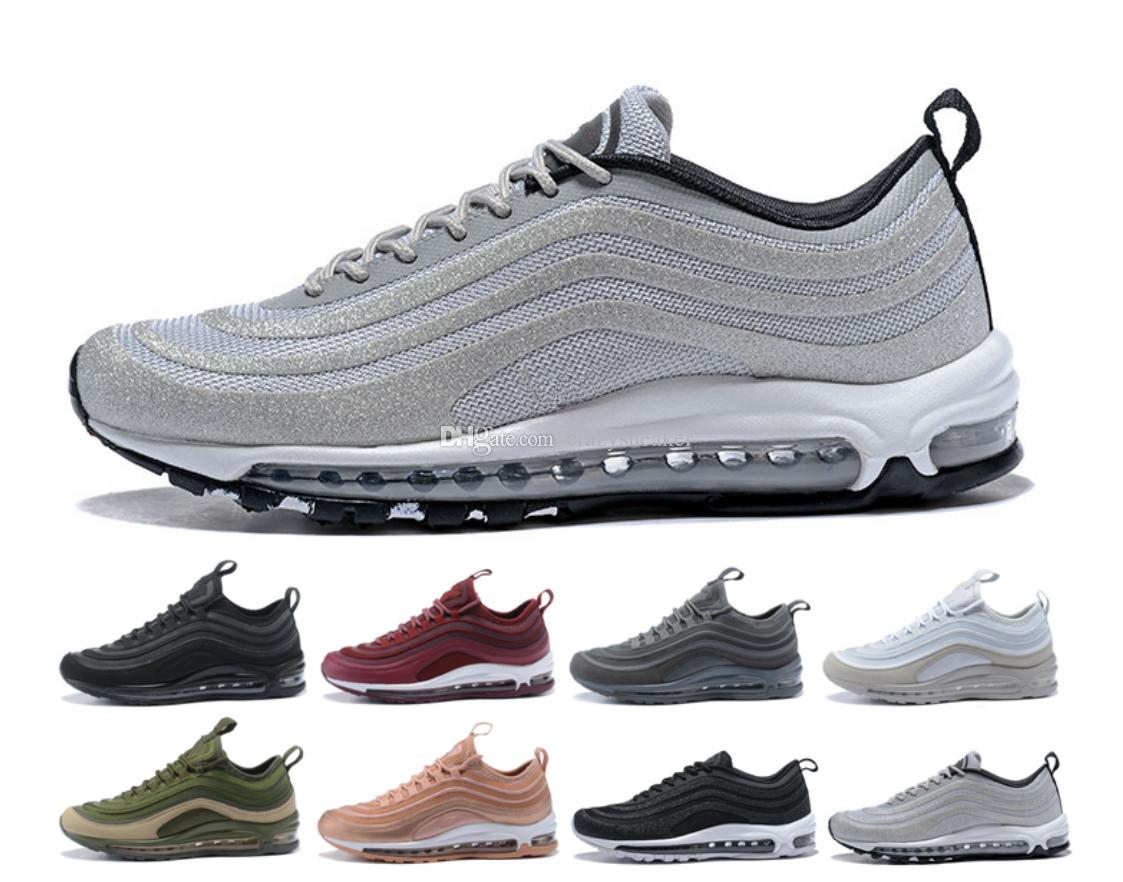 nike air max 97 shoes vapormax Zapatillas de running South Beach Japan Silver Bullet Undefeated Pack Triple Negro Blanco Rosa Hombre Zapatillas
