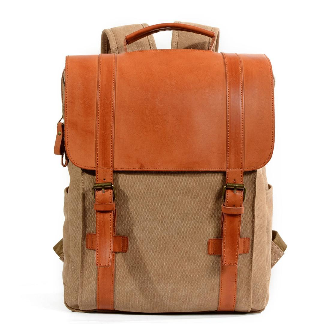 cb762a2a1b99 Classic Design Canvas Waterproof Backpack Student Both Shoulders Package  Male Leisure Time Outdoors Travel Computer Package Messenger Bags Leather  Backpack ...