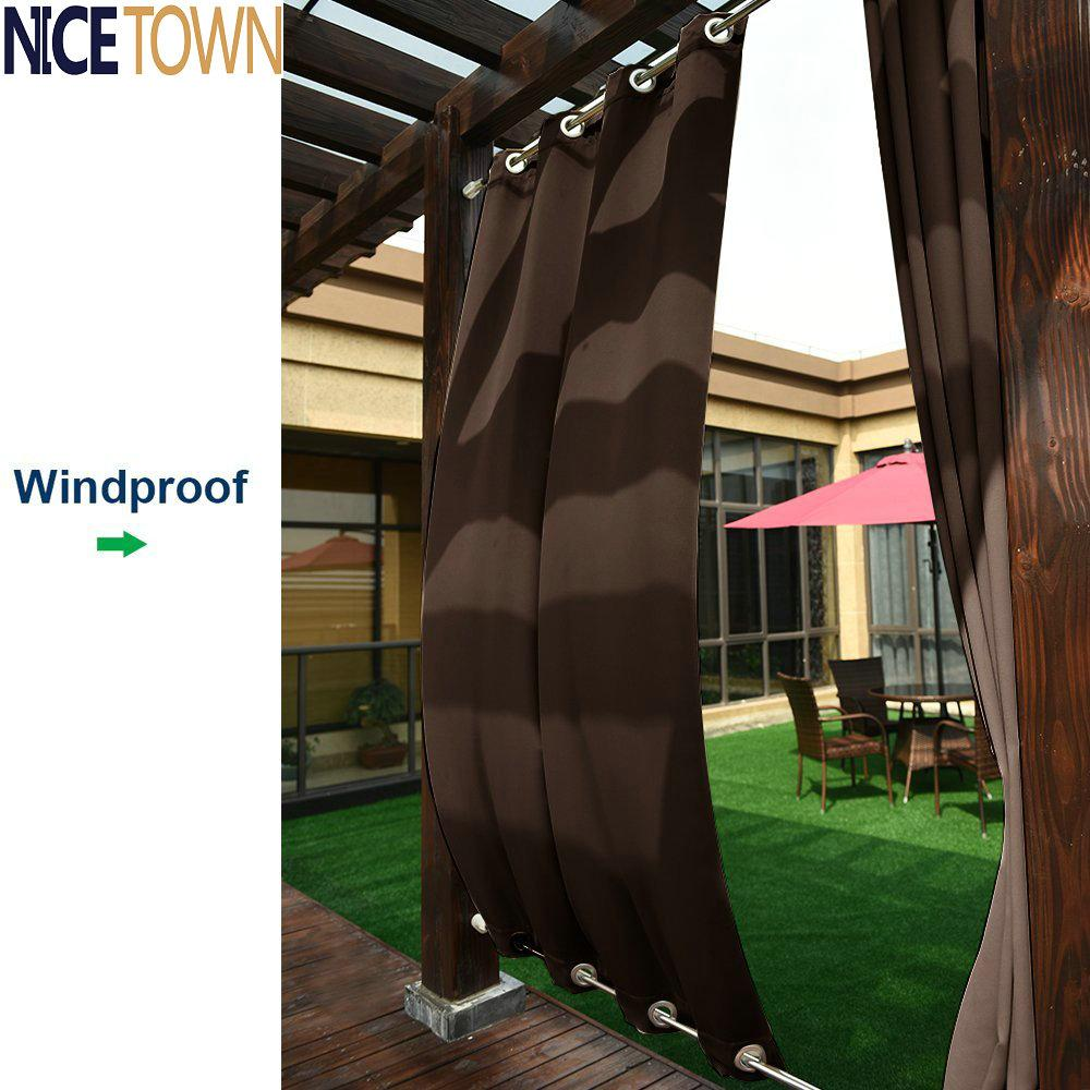 2018 Patio Curtains Outdoor Drape Panels Nicetown Easy Care Top And Bottom  Grommets Blackout Mildew Resistant Drapes For Outdoors From Hariold, ...
