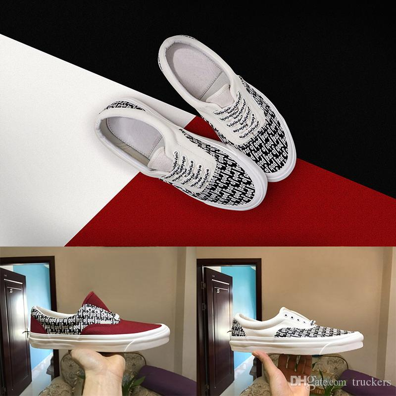 really New Fear of God Men Women Canvas Shoes Fog 2018 Casual Shoes sports Sneaker Old Skool x Era 95 Reissue Mens Trainers Canvas Shoes clearance 2015 new a29RwTEm