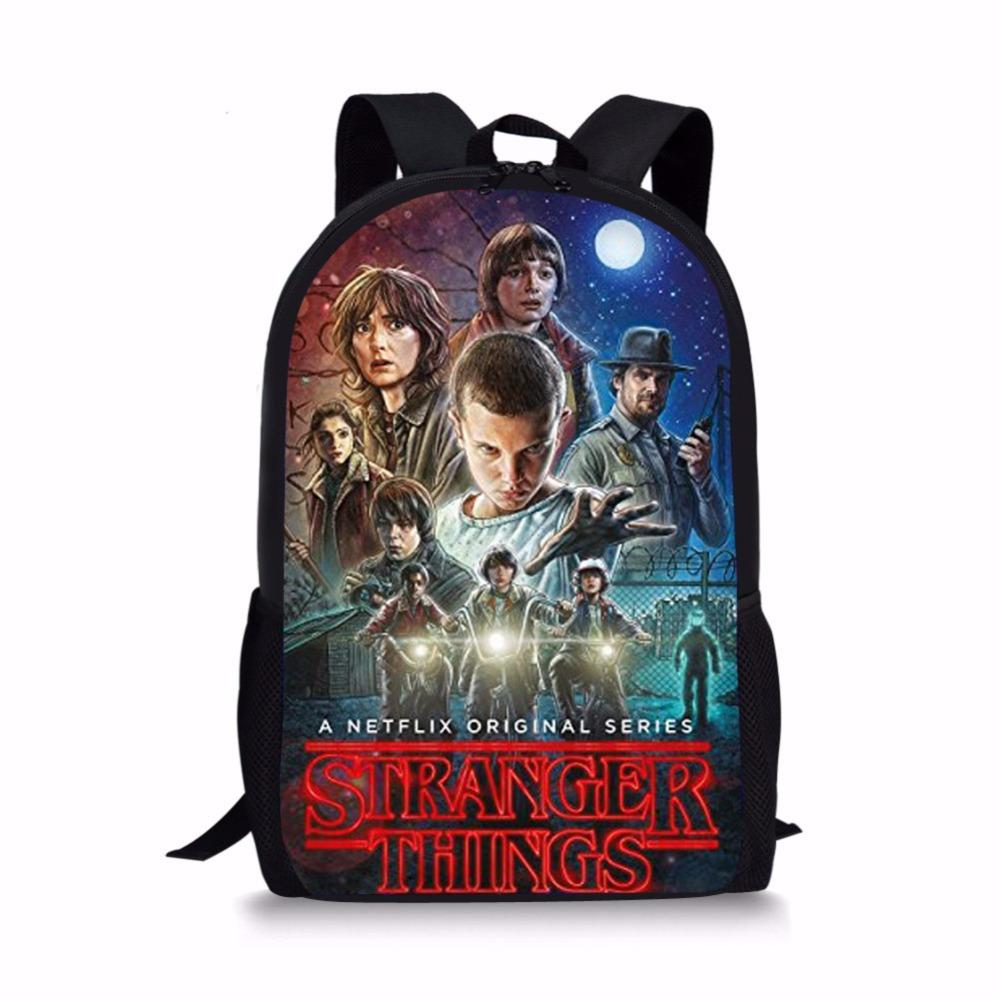 Forudesigns Stranger Things Season 2 School Bag For Teenager Boys