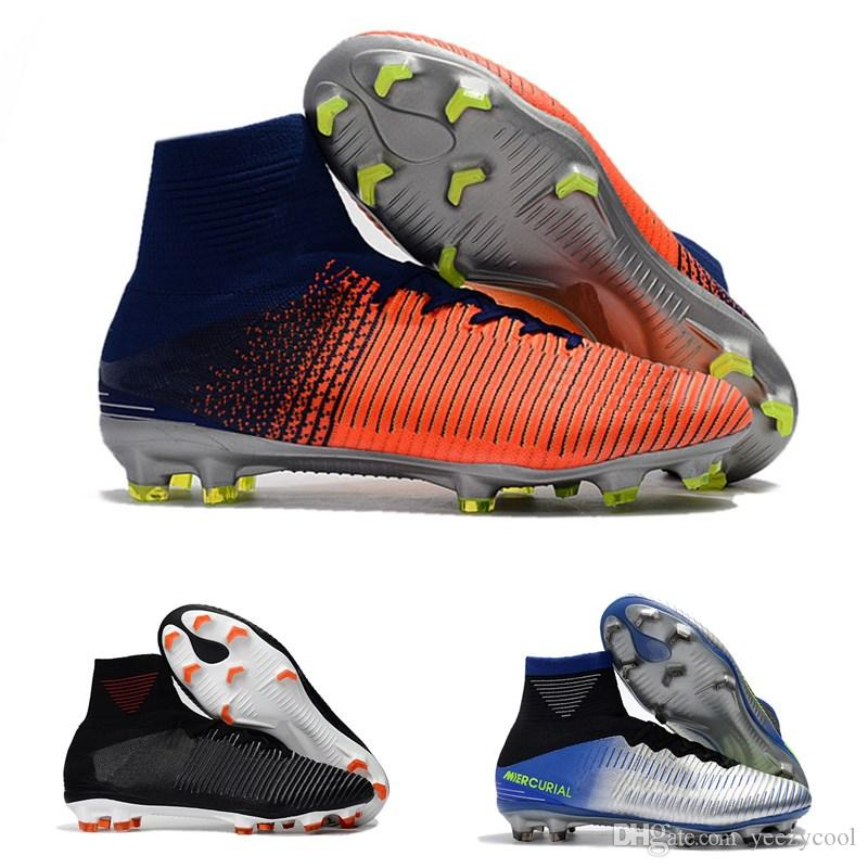 sports shoes 6265e 2cacf Mens CR7 Mercurial x EA SPORTS Superfly V FG Soccer Shoes Magista Obra 2  Boys Soccer Cleats Women Football Boots Youth Cristiano Ronaldo