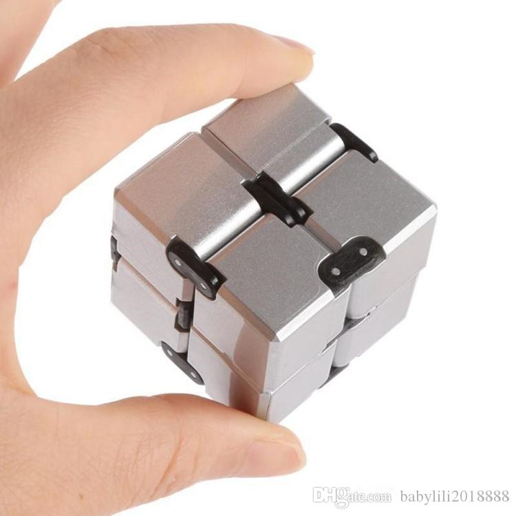 Infinity Cube Mini Fidget Toy Finger EDC Anxiety Stress Relief Magic Cube Blocks Adult Children Kids Funny Toys Puzzle Cube