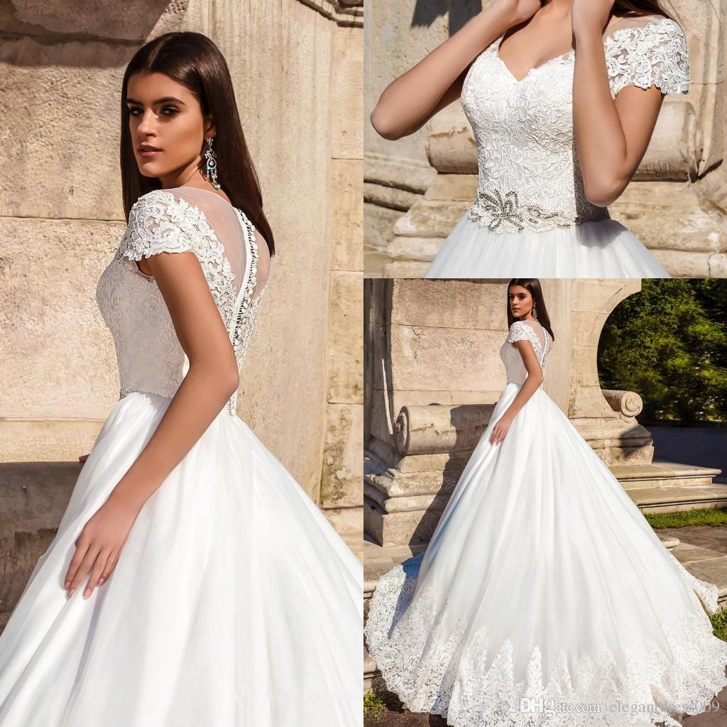 Discount New Arrival Milla Nova Lace Wedding Dresses V