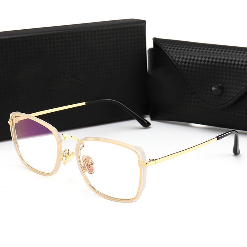 ae4fc3690a New Square Myopia Glasses Luxury Men Women Brand Designer Retro ...