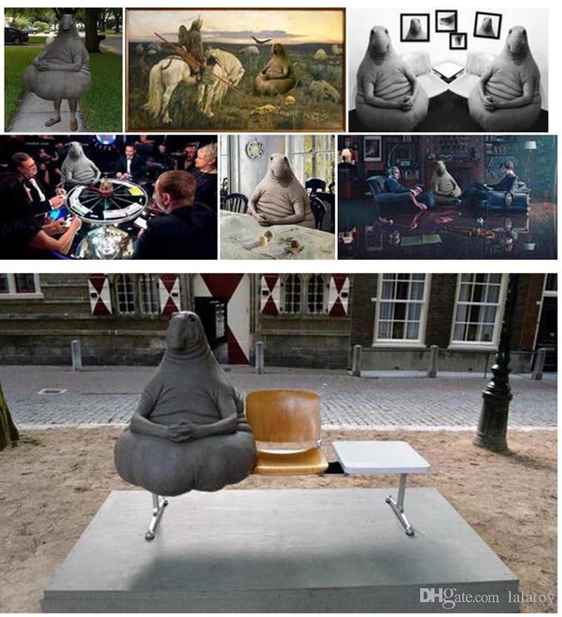 الساخنة الغريبة بدين القطيفة لعبة Zhdun القزم Loxodontus في لعبة ينتظر الميمات من Moslent Zhdun انتظر دمية ليتل لعب LA051