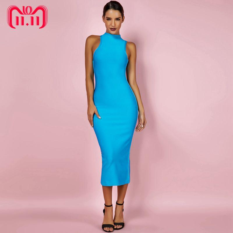 44495e3a86 Ocstrade Women Summer Bandage Dresses 2018 Aqua Blue Bandage Midi Dress  High Neck Sexy Bodycon Rayon Dress High Quality Casual Purple Dresses For  Juniors ...