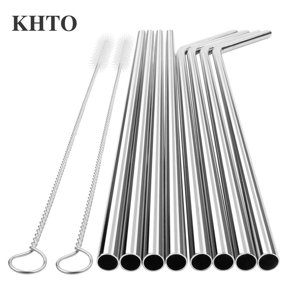 Dedicated Yihong Set Of 8 Stainless Steel Metal Straws Ultra Long 10.5 Inch Reusable Straw Other Bar Tools & Accessories Bar Tools & Accessories