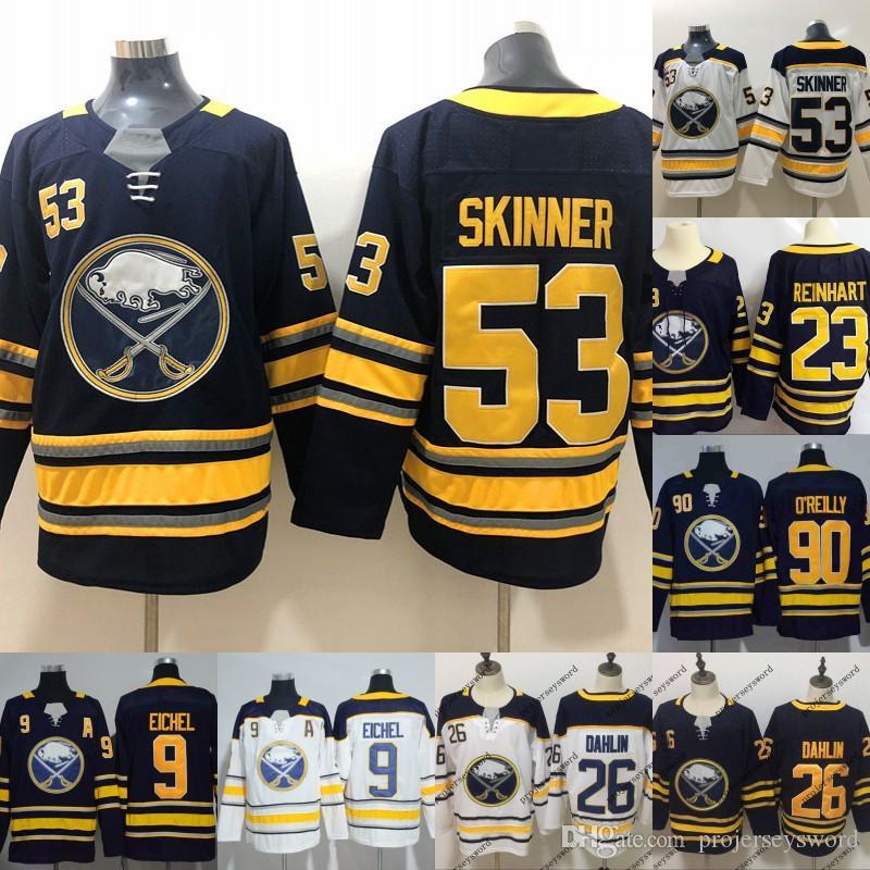 26 Rasmus Dahlin Jersey Mens Buffalo Sabres 9 Jack Eichel 23 Sam Reinhart  53 Jeff Skinner 90 Ryan O Reilly Blank Hockey Jerseys Cheap Rasmus Dahlin  Jerseys ... b0878ba0f