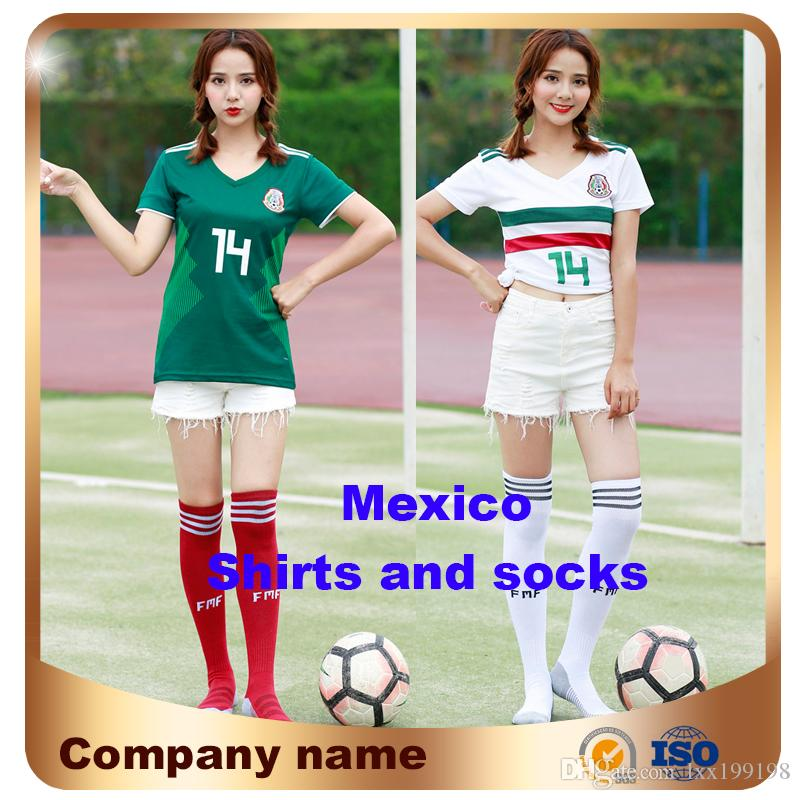 28614b39f47 2019 2018 World Cup Woman Mexico Soccer Jersey Home Away White 8 H.LOZANO  10 G.DOSSANTOS 14 CHICHARITO Girl Slim Short Sleeved Football Shirt From  Lxx199198 ...