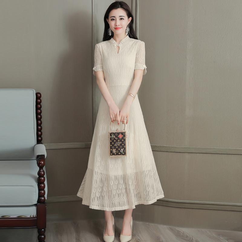 2f7d2d67b 2019 2018 Summer Black Red Chinese Traditional Dress Women S Silk ...