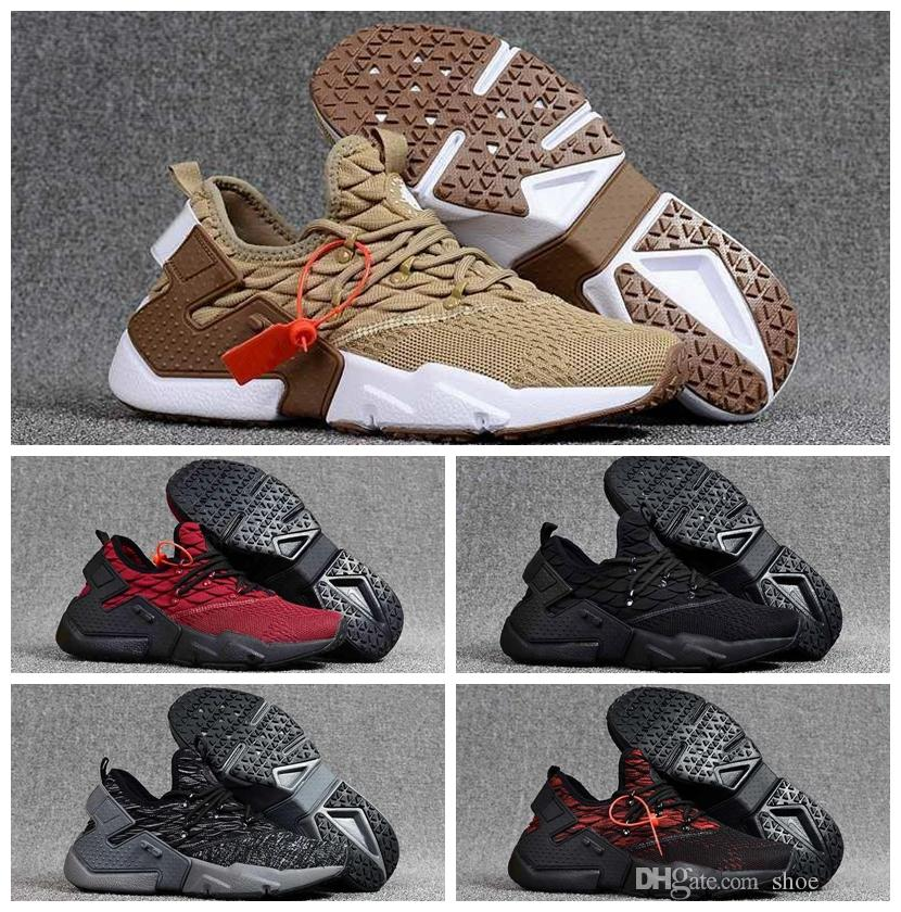 hot sale online d693b 29838 Acheter Huarache 2019 Air Huaraches 6 Ultra Run Tricot Course Chaussures  Sneakers Huarache Drift Mens Baskets Homme Huraches Sport Hurache Zapatos  ...
