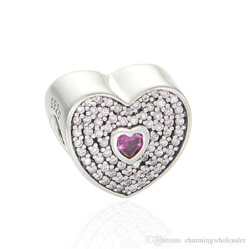 S925 sterling silver jewelry fits pandora bracelets antique ale LW442H9