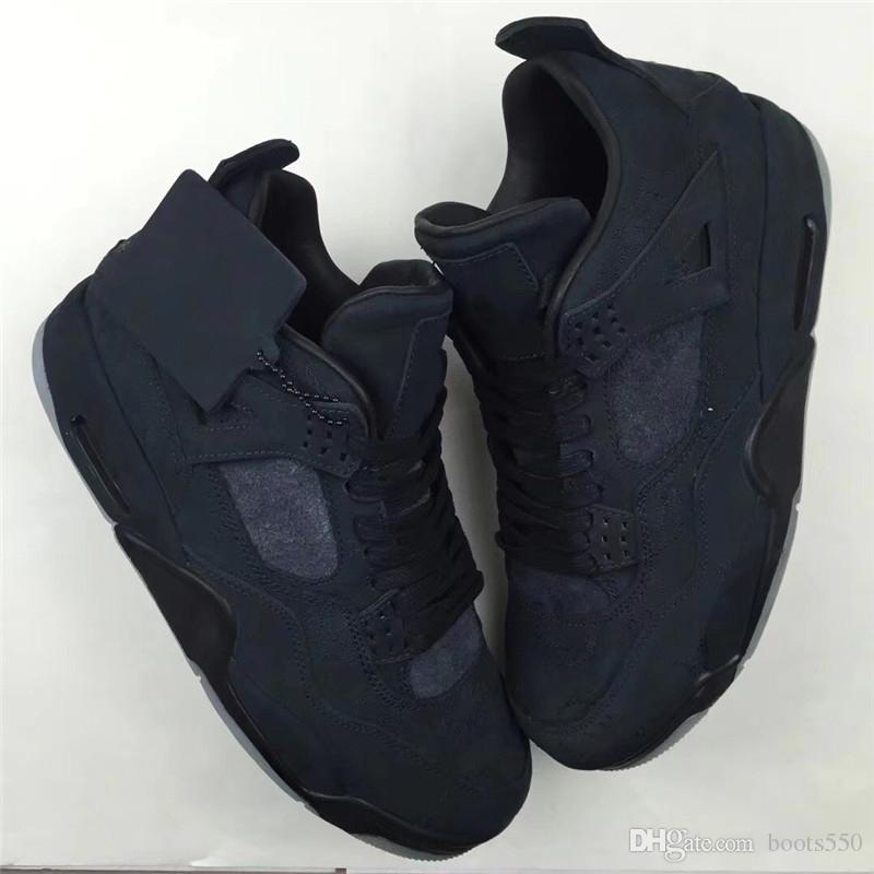 c35c92936955 2018 Newest Release 4 XX Kaws Black 4S IV Basketball Shoes For Men Cool  Grey Authentic Quality Sneakers With Original Box 930155 001 Shoes  Basketball Girls ...