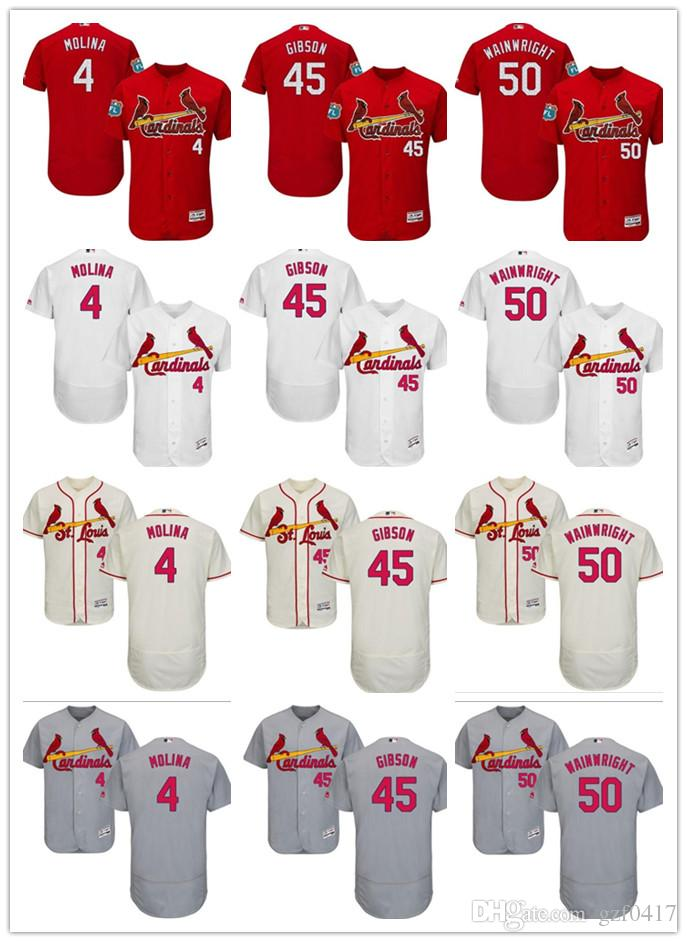 2018 Custom Men S Women Youth St. Louis Cardinals Jersey  45 Bob Gibson 50  Adam Wainwright 4 Yadier Molina Red Grey White Kids Baseball Jerseys From  Gzf0417 ... 8b6c3248e2