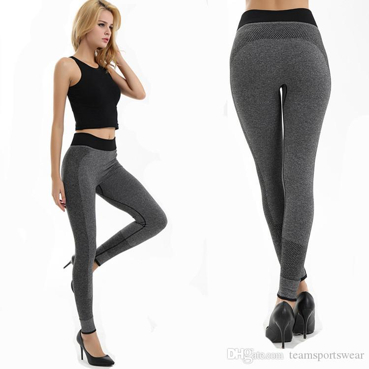 Women Fashion Tight Sportwear Nice Leggings High Elastic Thin Sports Yoga Pants Fitness Running Long Trousers Legging