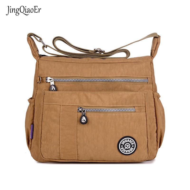 4a61b185dae 2019 Fashion JINQIAOER New Women Messenger Bags For Women Waterproof Nylon  Handbag Female Shoulder Bag Ladies Crossbody Bags Toting Leather Backpack  Purse ...