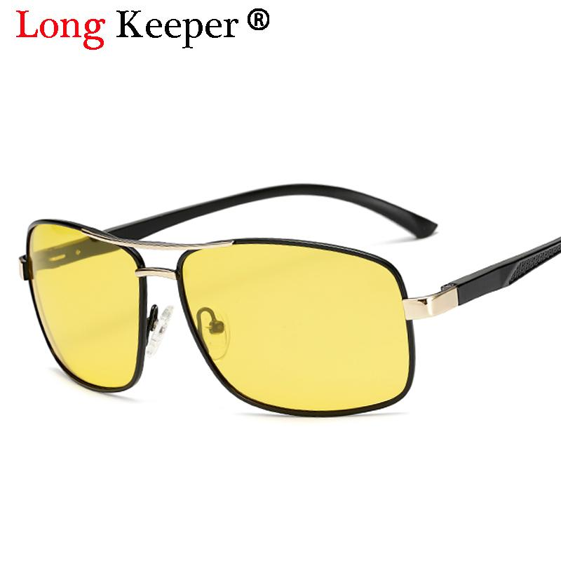 c341b35026 Mens Polarized Night Driving Sunglasses Men Brand Designer HD Yellow Lens Night  Vision Driving Glasses Goggles Reduce Glare 2053 Round Glasses Designer ...
