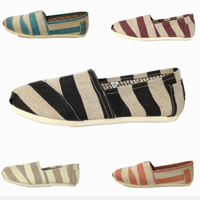 d79bb1a6246 Casual Shoes Women Men Classics TOM MRS Loafers Canvas Zebra Stripe Slip On Flats  Shoes Lazy Shoes Size 35 45 Vegan Shoes Comfort Shoes From Lili860809