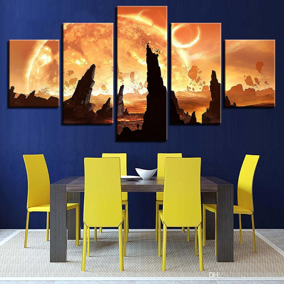 2018 Decoration Home Living Room Wall Art Canvas Pictures Abstract ...