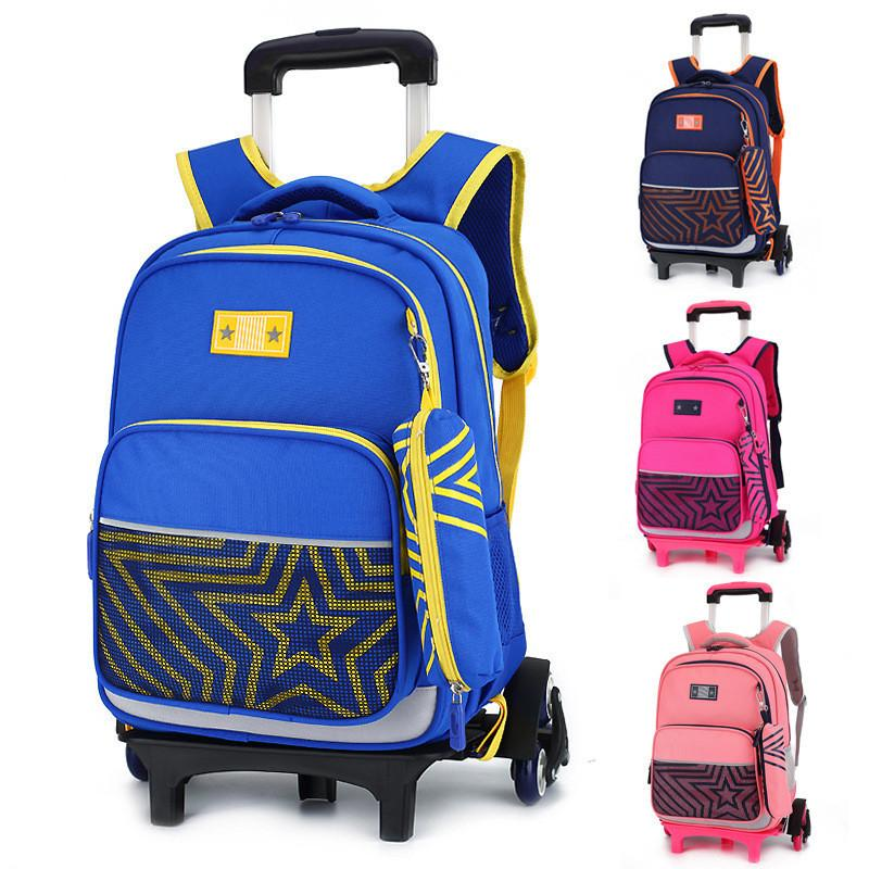 942c5a99cdf3 Children s Travel Luggage Backpack on wheels Girls Boy s trolley Backpack  with wheel for shcool Kids Rolling Bag School