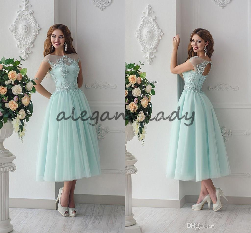 Lace beaded 2018 beach junior bridesmaid dresses sheer neck a line lace beaded 2018 beach junior bridesmaid dresses sheer neck a line tea length maid of honor dresses mint vintage evening party dresses tangerine bridesmaid ombrellifo Choice Image