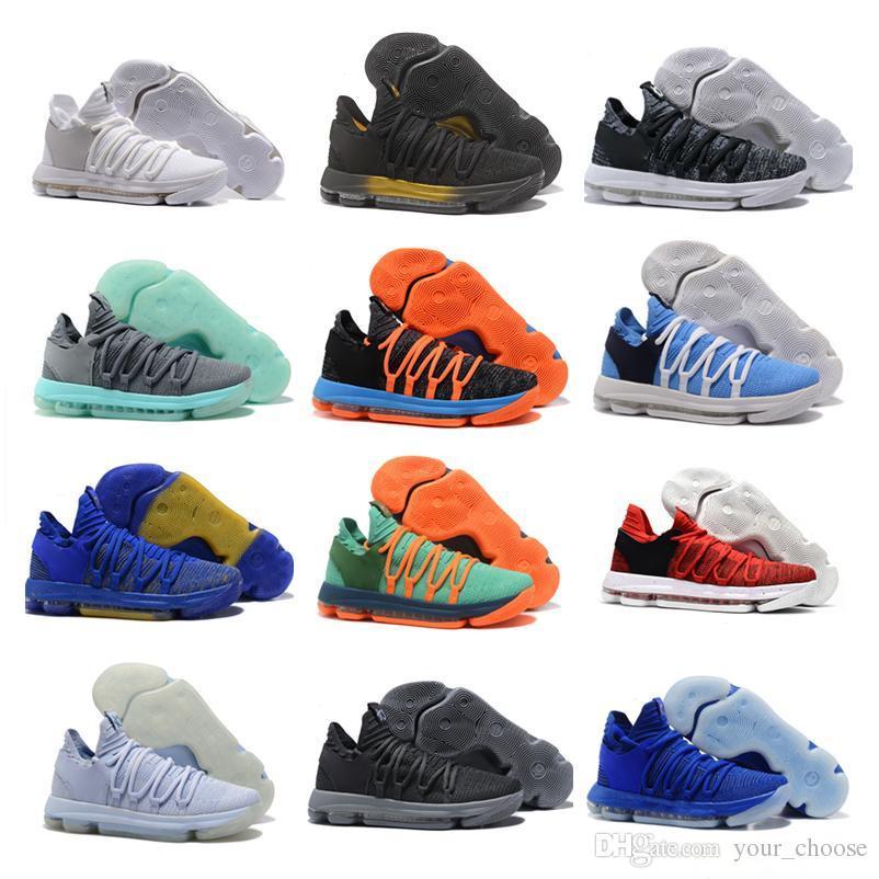 buy online e8967 2703d Großhandel Neue KD Basketball Schuhe 2018 Top Qualität KD 10 Oreo Werden  True UniversIty Rot Weiß Chrom Kevin Durant Outdoor Sneakers Sportschuhe  Von ...
