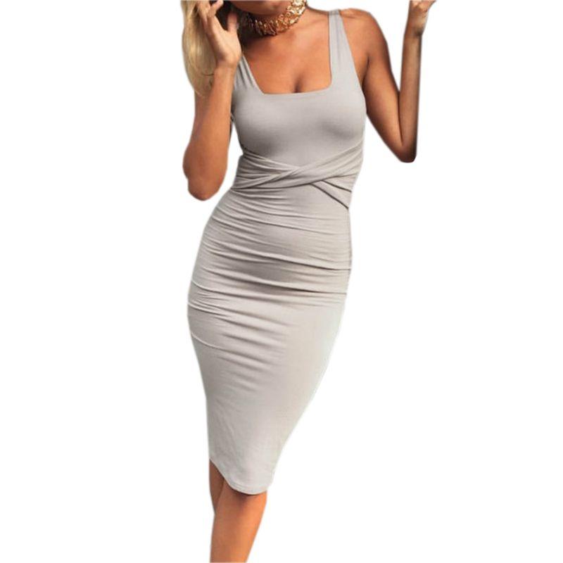 Kleid figurbetont midi