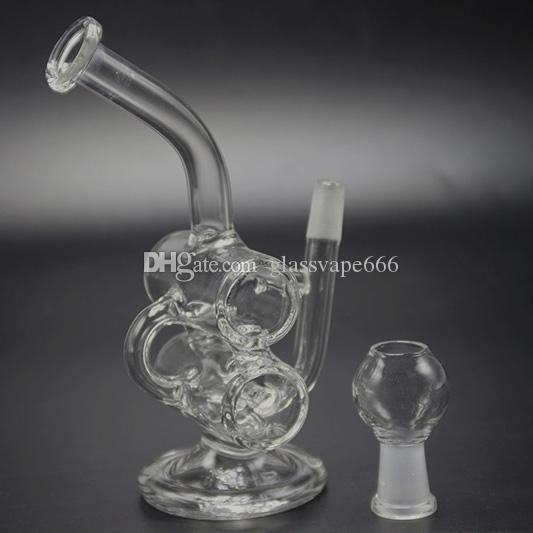 Vendita calda Bong di vetro Tubi di acqua Martello Percolatore Bubbler Riciclare Rigs Bong di vetro Bruciatore a olio Tubi di acqua