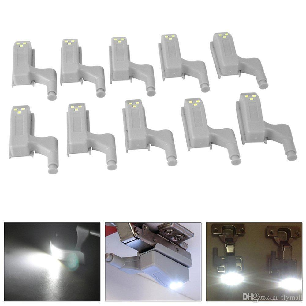 Furniture 10pcs Led Under Cabinet Hinge Light Universal Wardrobe Light Sensor Led Night Lamp Warm/white Light Special Buy