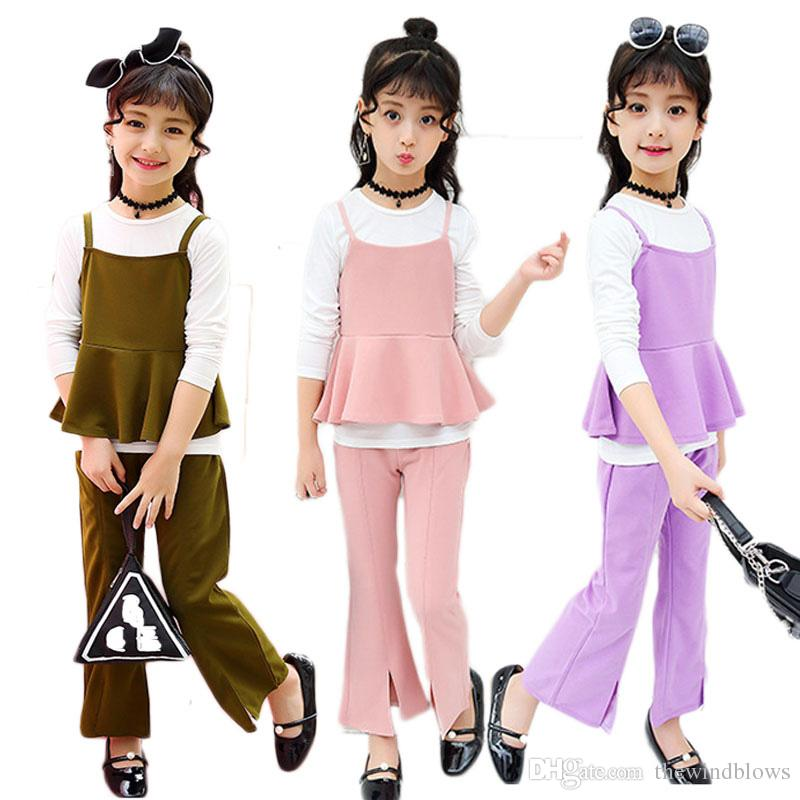100a923b8 2019 Spring Autumn Girls Clothing Sets Clothes Sets For Girl Kids Tracksuit  Fashion Teen School Suits 10 12 14 From Thewindblows, $22.12 | DHgate.Com