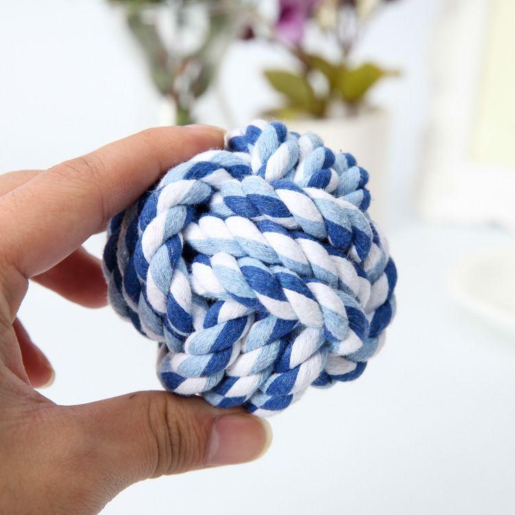 Cane Pet giocattolo palla mastica Pet Supplies tessuti a mano in cotone corda cane denti Pet-resistente cane giocattoli stock