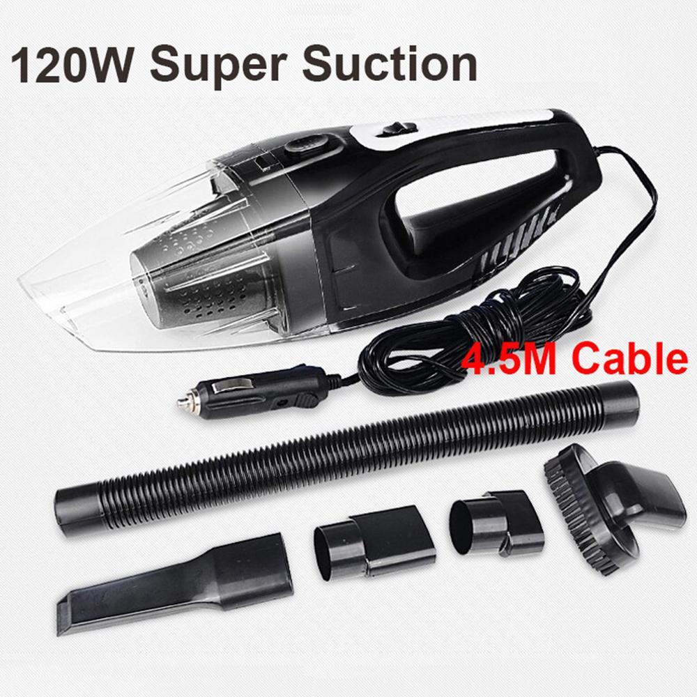 Auto Accessories Portable 120w 12v Car Vacuum Cleaner Handheld Mini ...