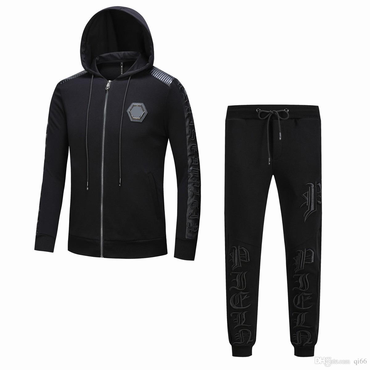 Acquista 2019 Tuta Sportiva Skulls PP Uomo Cotone Abbigliamento Felpa Con  Cappuccio Tuta Maschile Fitness Casual Slim Felpe A Maniche Lunghe Cappotti  + ... 4c68ae71ea8