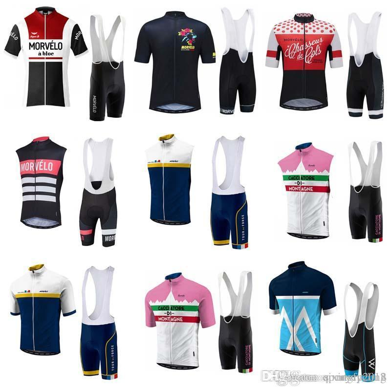 125a7be95 2018 Morvelo Cycling Jerseys Short Sleeves Cycling Clothes Kit With ...
