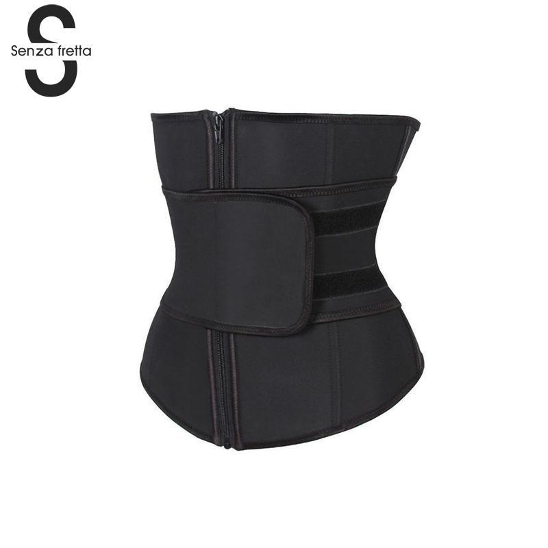 358b4455b0e 2019 Black Shapers Abdominal Belt High Compression Zipper Plus Size Latex  Waist Cincher Corset Underbust Body Waist Trainer NYQ6593 From Cutelove66
