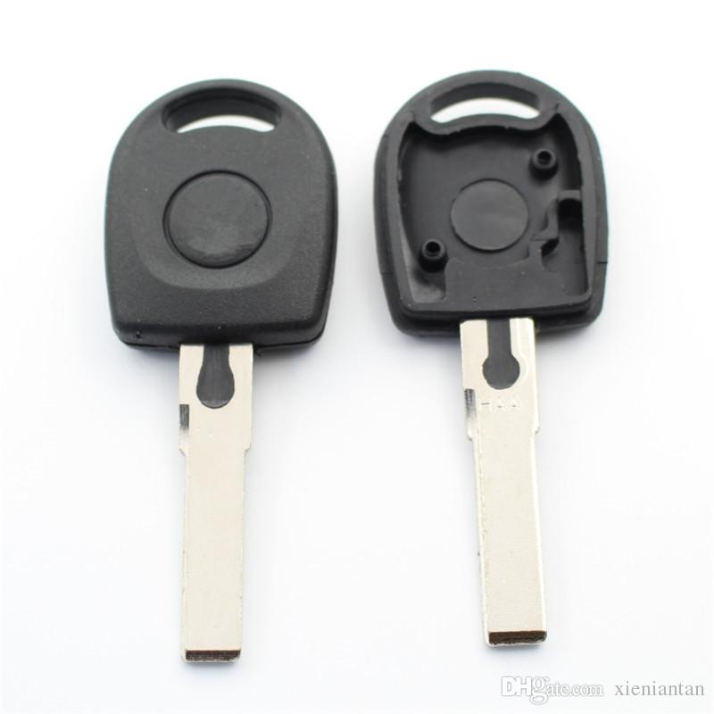 For Vw Passat B5 Polo Bora Blank Transponder Key Shell Case Can Install Chip With Logo S201