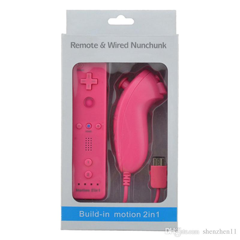 2 in 1 Remote Game Handle Built in Motion Plus MP Bluetooth for Nintendo Wii with box DHL OTH317