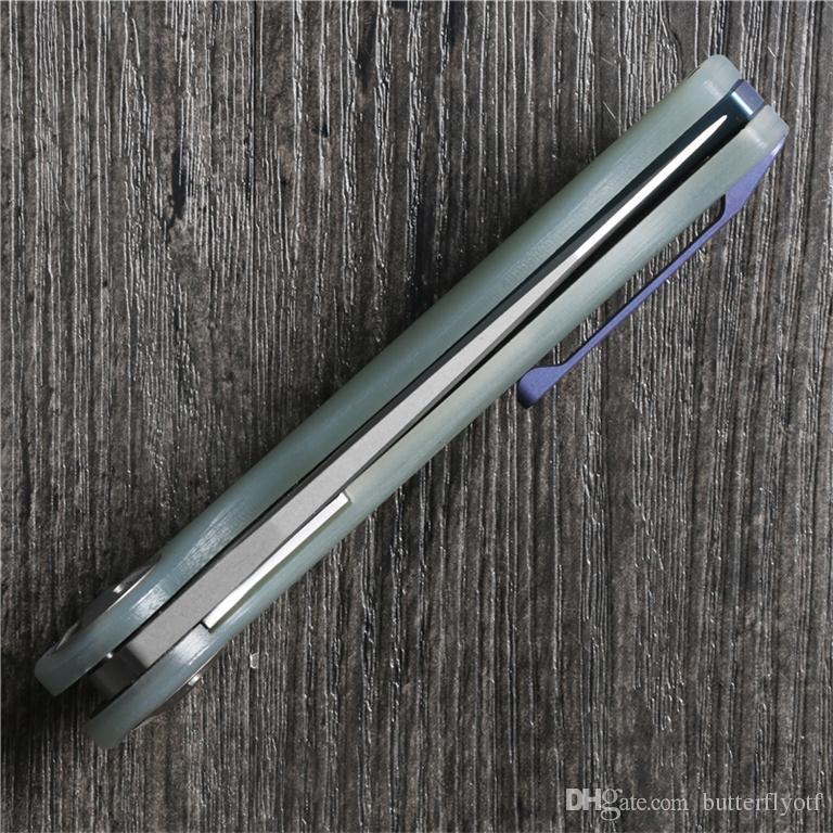 Nimo 1701 coltello pieghevole m390 coltello 100% m390 + G10 design originale maniglia sistema di cuscinetti a sfera di pesca difesa coltello da tasca spedizione gratuita