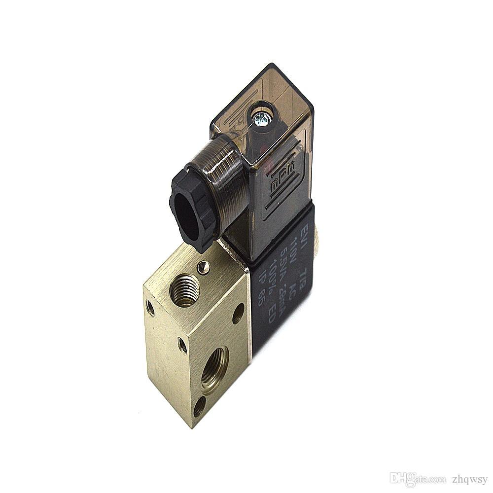 3V1-06 AC110V 5.5VA 29MA 2-posição válvula pneumática solenóide eletromagnética de 3 vias G1 / 8